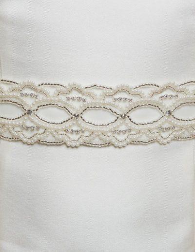 Amanda Wyatt Ivory Pearl and Diamante Belt