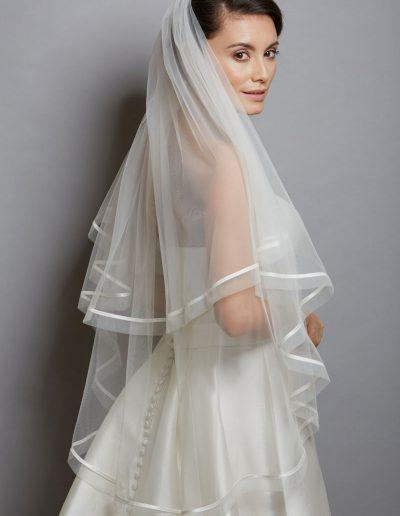 Amanda Wyatt Two Tier Satin Edged Veil