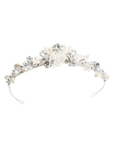Silver and pearl tiara AW997