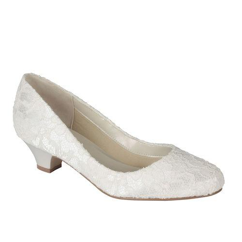 Pink Wedding Shoes Low Heel: Cherished Wedding Boutique